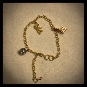 Children's gold charm bracelet